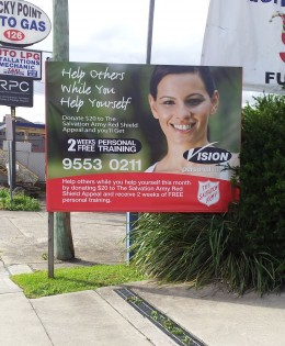Vision interchangeable velcro banner