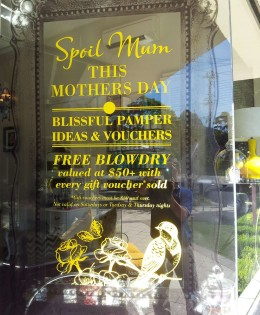 Bliss Mother's Day Window in Vinyl