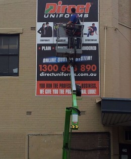 Direct Uniforms External Banner on Sails Track