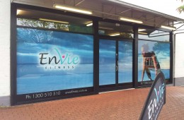Envie printed window graphic