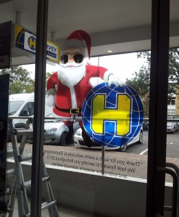 Harvey World Christmas Promotion, Translucent Window Graphic