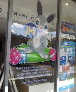 Harvey World Easter Promotion Window Print