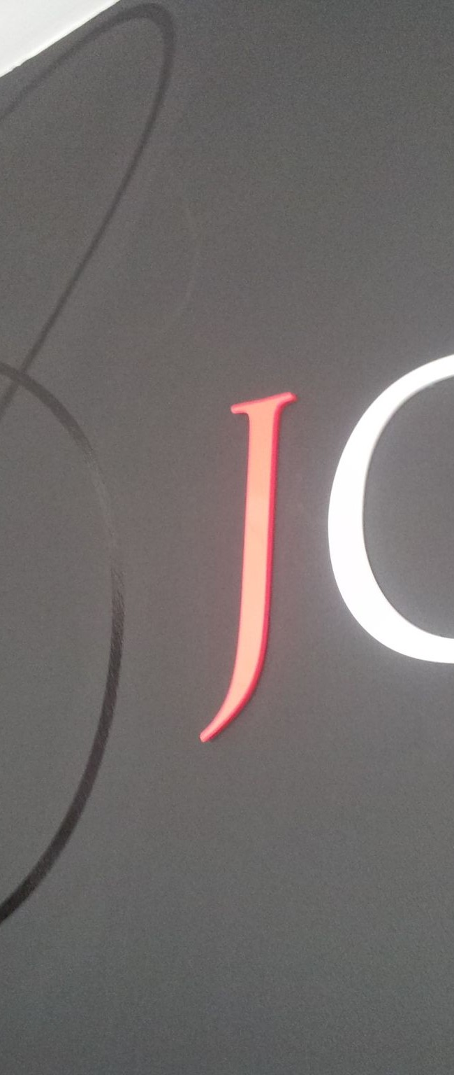 J hq 3d letters and vinyl graphic signs on site for 3d vinyl letters