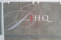 J HQ Routered Letters and Vinyl Image 1