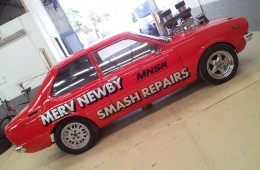 Merv Newby Burn Out Car Signs