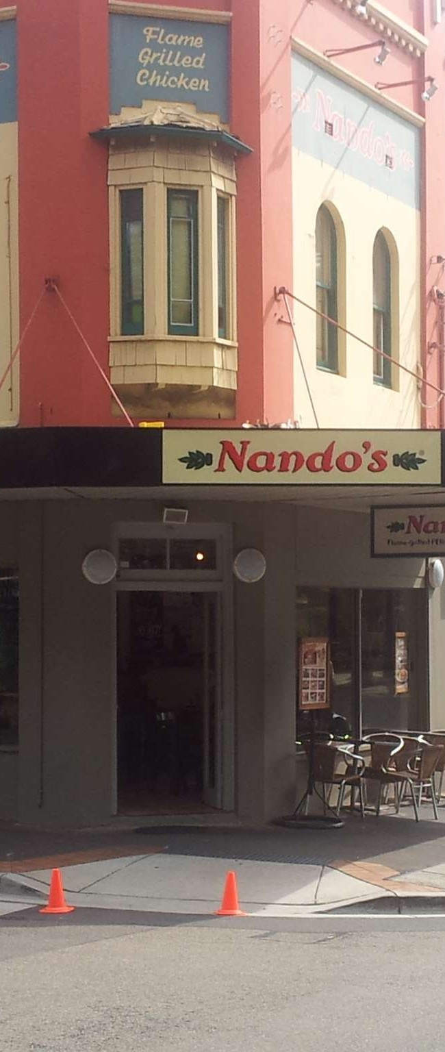 Nandos folded awning and light boxes