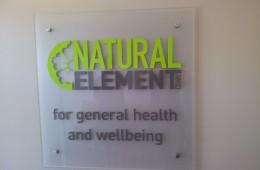 Natural Elements 3D wall sign