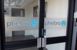 Phebra Etch 'Dusted Glass' and Vinyl Door Signs