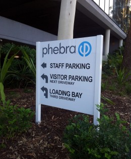 Phebra Parking Sign
