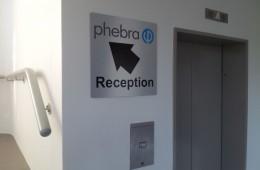 Phebra Reception Arrow Brushed Aluminium