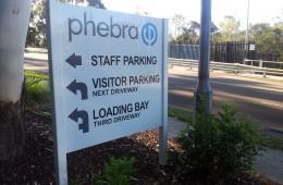 Phebra directional sign