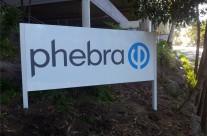 Phebra freestanding sign