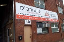 Platinum Kitchen Large printed Banner on Sails Track