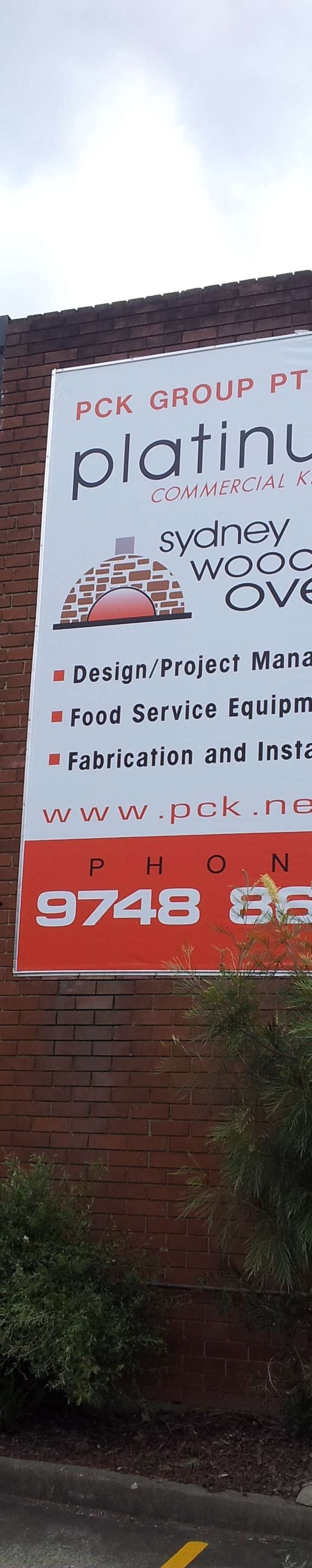 Platinum Kitchens Large printed Banner on external wall