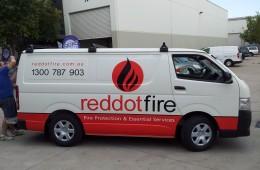 Red Dot Van Sign