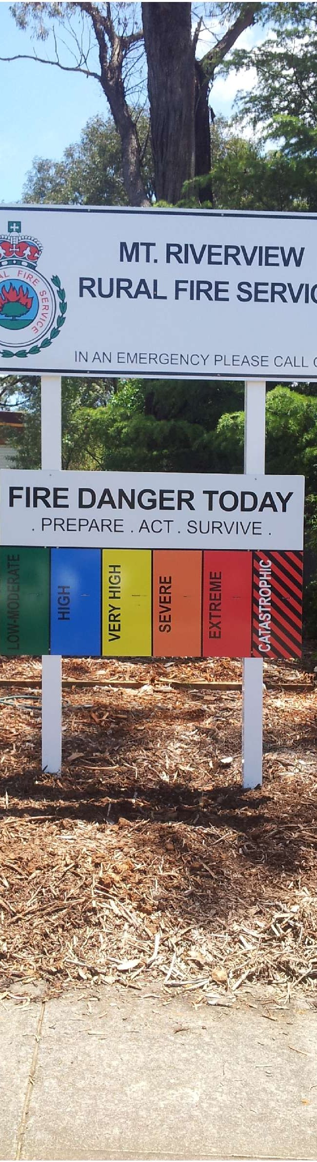 Rural Fire Service Fire Danger Indication Sign