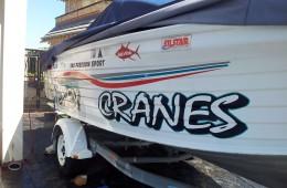 Sydney Cranes Boat Signage