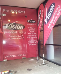 Vision Microhole Window, Front Door and Tear Drop Banners